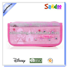 new style pink 600D school pro girls pencil pouch