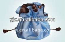 Light Color Round Satin Bag with Drawstring