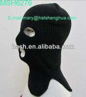 New Knit Acrylic Balaclava custom ski face mask hat (MSH6276)