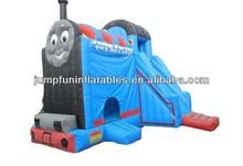 Inflatable Thomas Train Bounce Slide,Jumping Castle Combo Slide games