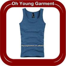 Lycra Men's Cotton Blank Plain Tank Top/Singlet/Vest/Sleeveless