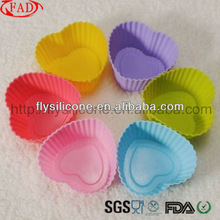 Heart Silicone Cake Muffin Chocolate Cupcake Case Liner Baking Cup Mold
