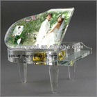 clear piano music box for crystal wedding gifts