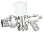 J-05105 Radiator valve w/drain angle chrome