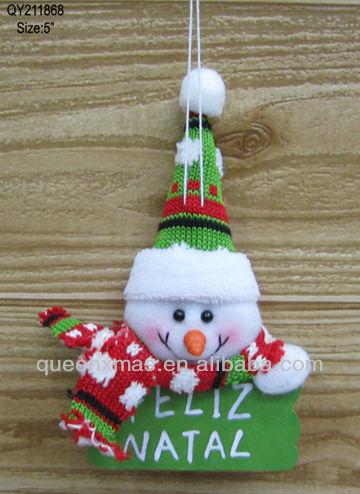 """Muñeco de nieve diseñado """" navidad ornamento colgante """" con madera palabra placa"""