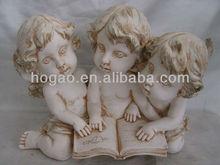 White resin angel carving