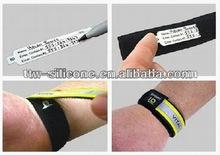 Custom engrave id bracelets/velcro id/qr code bracelets