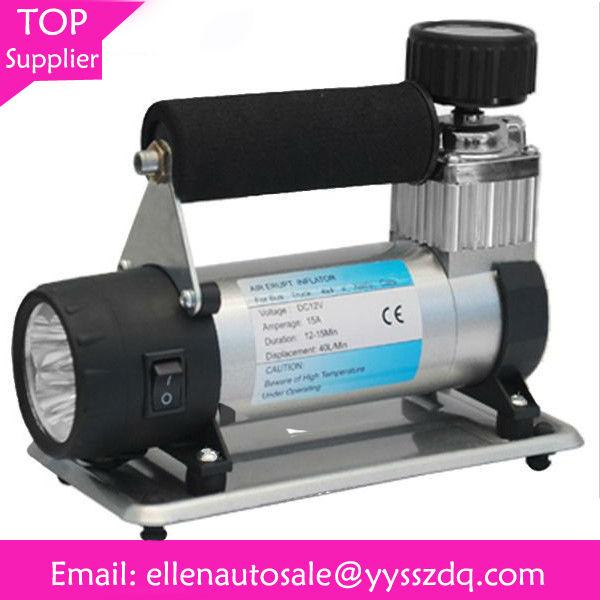 mini metal 150 psi car air compressor with LED light