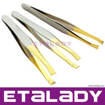 Plastic Tipped Beauty Eyebrow Tweezers Hot Bent Smart Tweezers Manufactory