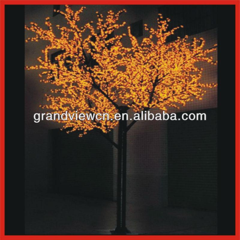 Tree > LED Cherry Blossom Tree Lights > Yellow Decoration Christmas ...