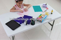 2015 hot sell 4ft plastic folded in half table