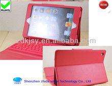 2013 new Mini Bluetooth Keyboard with Pu Leather Case for mini ipad