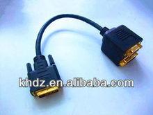 DVI24+1 to splitters DVI jack and VGA JACK cable