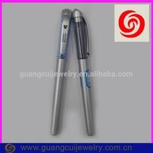 fashion newest plastic hotsale silver color business pen gift set