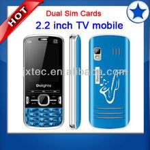2013 cheap chinese mobile dual sim cards TV cellphone Q6