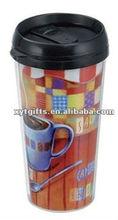 450 Plastic Travel Mug with Insert Paper
