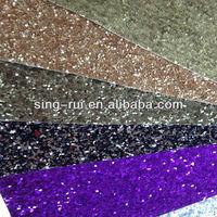 PU Matte Glitter Leather fabric