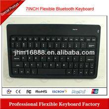 7 Inch flexible bluetooth wireless mini keyboard with touchpad