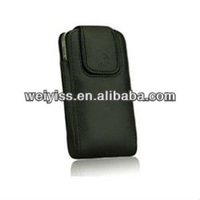 Lambskin Leather Case Holster with Rotating Belt Clip for iPhone 5