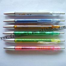 plastic preiswert ballpen/ banner pen/flag pen for advertising and promotion