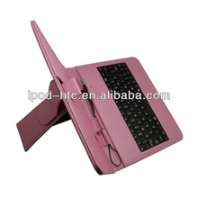 """For Andriod 7"""" tablet PC leather case with USB keyboard"""