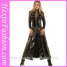 mode gros 2013 tirette noire robe en cuir pour femme