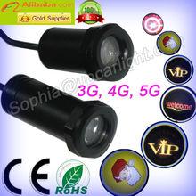 kl-yb2 led car door logo laser projector light with CREE LED ghost shadow light projector light