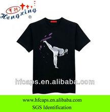 Popular black men short sleeve screen printing t-shirt