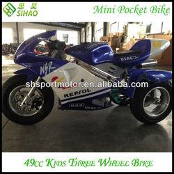 Chinese 49cc Chopper Easy Pull Start Pocket bike for Kids