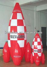 Gaint inflatable pvc tarpauline rocket model