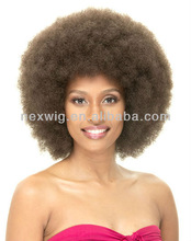 #1B color afro kinky curl Kanekalon synthetic hair wig 1257