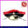 moda plástico brilhante vermelho feathe black máscara de halloween pirata páscoa máscaras para a festa