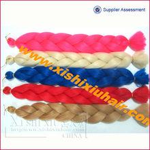 Hot selling fashion Yaki 100% kanekalon fiber x-pression ultra braid