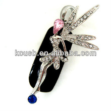 Jewelry Diamond USB Flash Drive 64GB Angel
