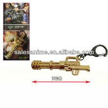 Wholesales Anime Cross Fire Key Chain Cosplay Golden Gun