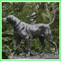 Outdoor Bronze Standing Dog Statue BASN-I002A