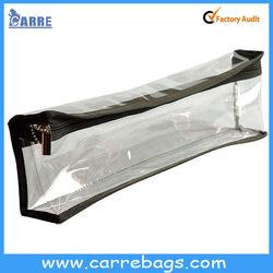 zipper clear vinyl PVC pencil Bag makeup bag pencil case