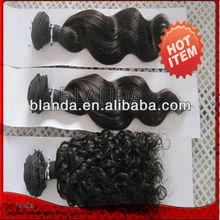 2013 brazilian human hair wet and wavy weave or curl virgin hair