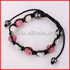 aliexpress white and pink shamballa bracelet