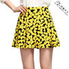 Sexy print a line casual mini skirt Y001