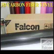 3d Black Carbon fiber sticker