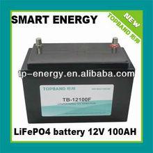 Factory 12V100Ah lithium-ion marine battery