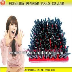 2013 diamond brush abrasive nylon for cleaning