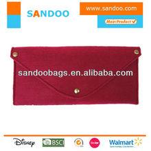 2014 Fashion red fashion wool felt packing bag