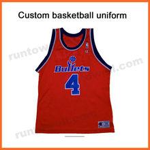 Runtowell cheap reversible basketball uniforms / basketball uniforms wholesale / basketball uniform design