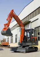 JH60B-7 crawler excavator with yanmar engine 57hp , 0.21M3 bucket capacity