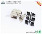 D-SUB metal alloy DB9pin 90degree heavy metal alloys