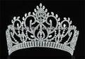 "Atacado vintage estilo pageant tall 4.5"" tiara completo círculo redondo de cristal coroa ct1724"