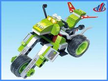 95pcs self build blocks green motorcycle