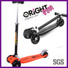 2013new patent design 4 wheels folding maxi micro kick scooter orange color